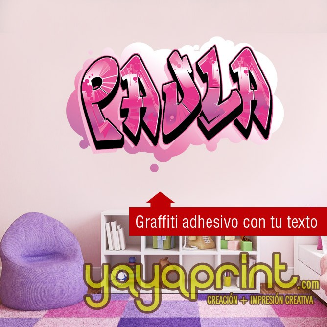 Children´s wall decals and stickers. Tu nombre en Graffiti ...