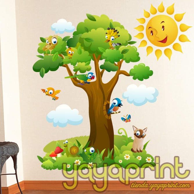Children s wall decals and stickers arbol m gico y - Vinilo arbol infantil ...