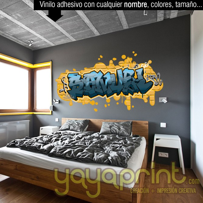 Murales para juveniles top excellent great dormitorio for Mural habitacion juvenil
