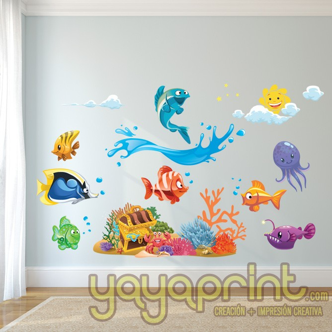 Vinilos infantiles decorativos madrid barcelona lima for Sticker habitacion infantil