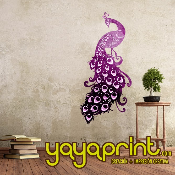 vinilo pavo real peacock a todo color vinilo decorativo adhesivo para pegar en pared barato papel decorado vinilos sticker calcomanias decoracin