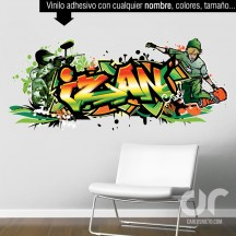 Graffiti de nombre skate paintball Personalizable