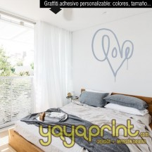 Graffiti vinilo personalizable decoración habitación LOVE espray