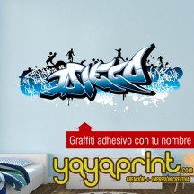 Graffiti de nombre en vinilo adhesivo R1 ¡Novedad!