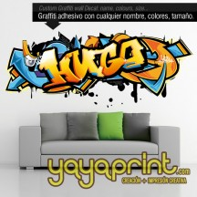 Tu nombre en Graffiti de vinilo 14 ¡Novedad!