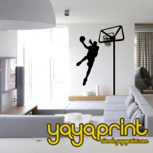 Vinilo decorativo pared Baloncesto 05