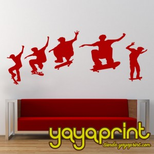 vinilo decorativo skate pared y tabla yayaprint.com