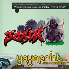 Graffiti Jokin Darth Vader parodia vinilo Yayaprint