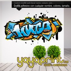 graffiti nombre Hugo decoración Yayaprint.com