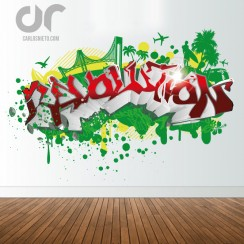Graffiti name revolution custom office and home decor wall decal California surf