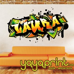 vinilo graffiti personalizable Yayaprint Decoración juvenil Retro