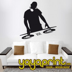 vinilo decorativo dj para pared