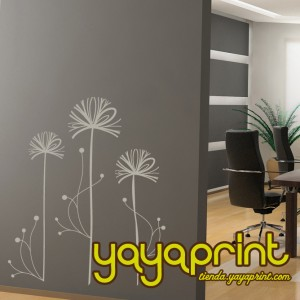 Vinilo decorativo pared floral yayaprint