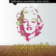 Graffiti Arte Pop Urbano vinilo personalizable Marilyn