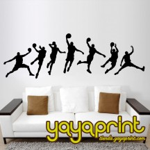 Vinilo decorativo pared Baloncesto 18