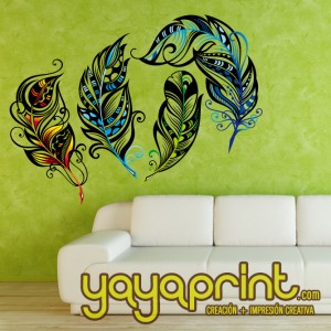 Vinilo yayaprint plumas ave fenix color