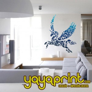 vinilo decorativo pared caballo pegaso unicornio yayaprint