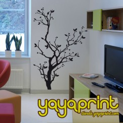 vinilo decorativo floral pared árbol Yayaprint