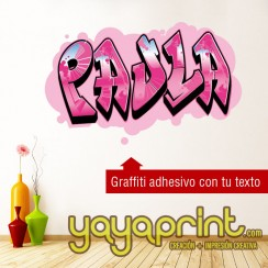 grafiti Paula vinilo decorativo adhesivo vinilo decorativo adhesivo para pegar en pared barato papel decorado, vinilos sticker calcomanias decoración habitación decorar cuarto dormitorio cuna. Pegatina Calcomania, mural graffiti Ideas tendencias Decoració