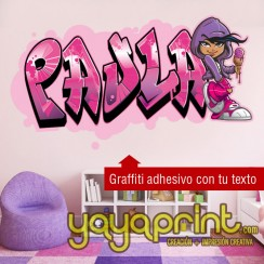 grafiti nombre vinilo decorativo adhesivo decorativo adhesivo  pared papel decorado sticker calcomanias decoración habitación decorar cuarto dormitorio cuna. Pegatina Calcomania, mural Ideas tendencias Decoració